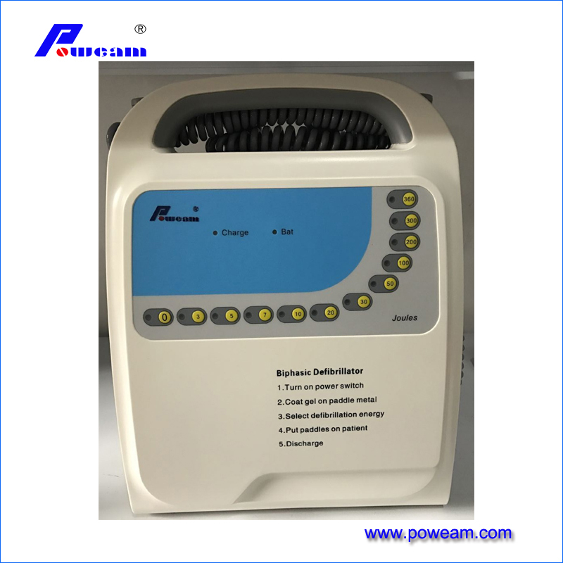Hospital Portable Aed Automated External Monophasic Defibrillator (D-1000A)